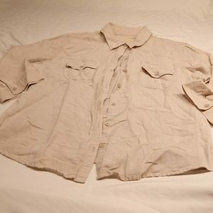 Sonoma blouse tan t-shirt side